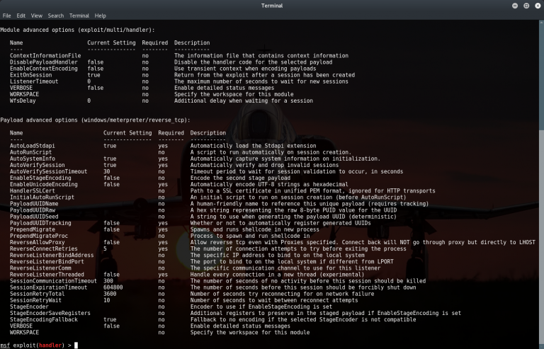 List Of Metasploit Commands