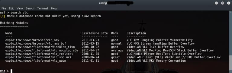List Of Metasploit Commands