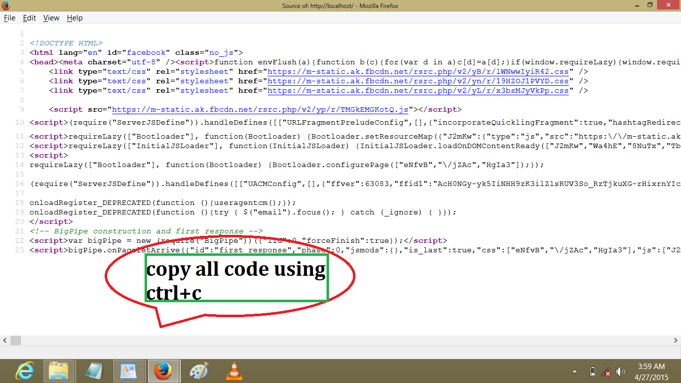 html facebook hacking code 2018