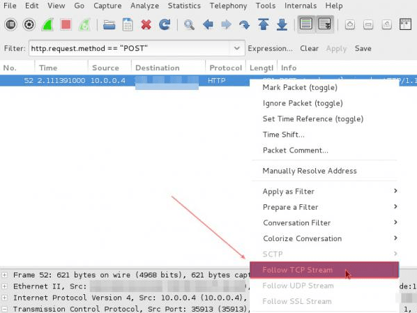 Sniff Password Using Wireshark